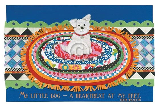 White Dog On Rug Iddy Biddy Boo Design